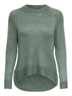 onlorleans l/s o-neck pullover knt noos 15166164 only trui balsam green/w. melange