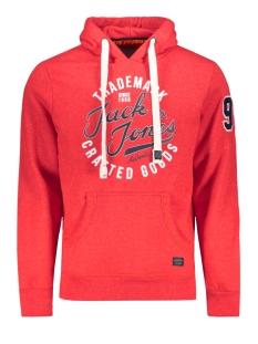 jorchamps sweat hood 12143350 jack & jones sweater fiery red/slim