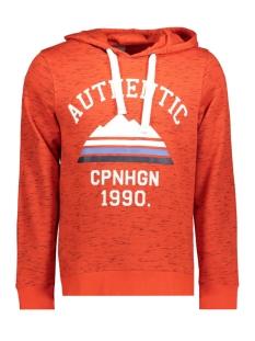 jorjop sweat hood 12144357 jack & jones sweater fiery red/slim