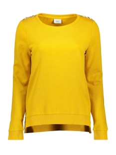 Only Sweater onlSOUND L/S O-NECK BUTTON SWT RPT1 15173366 Golden Yellow