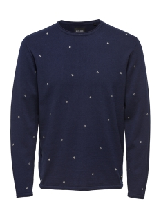 Only & Sons Trui onsGARSON 12 EMBROIDERY KNIT 22012590 DRESS BLUES