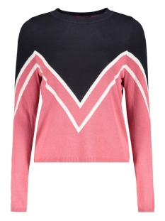 Only Trui onlHOLLI L/S PULLOVER KNT 15160799 Night Sky/ROSE