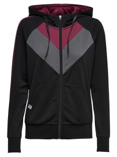 Only Play Sport vest onpMEGANE ZIP HOOD SWEAT 15159478 Black
