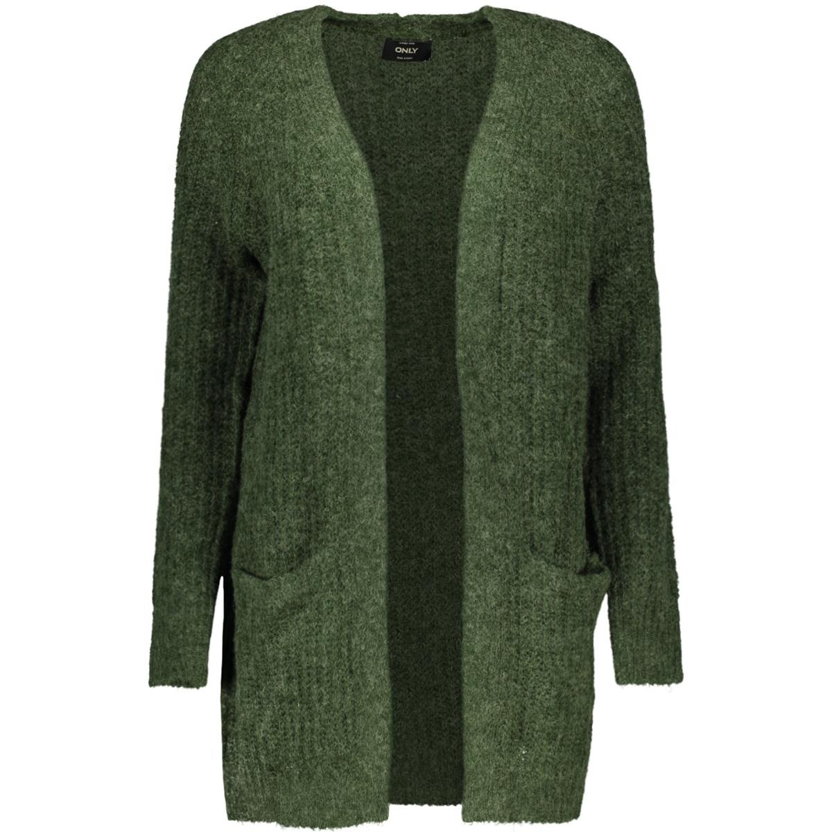 onlvega l/s cardigan knt 15160729 only vest hunter green