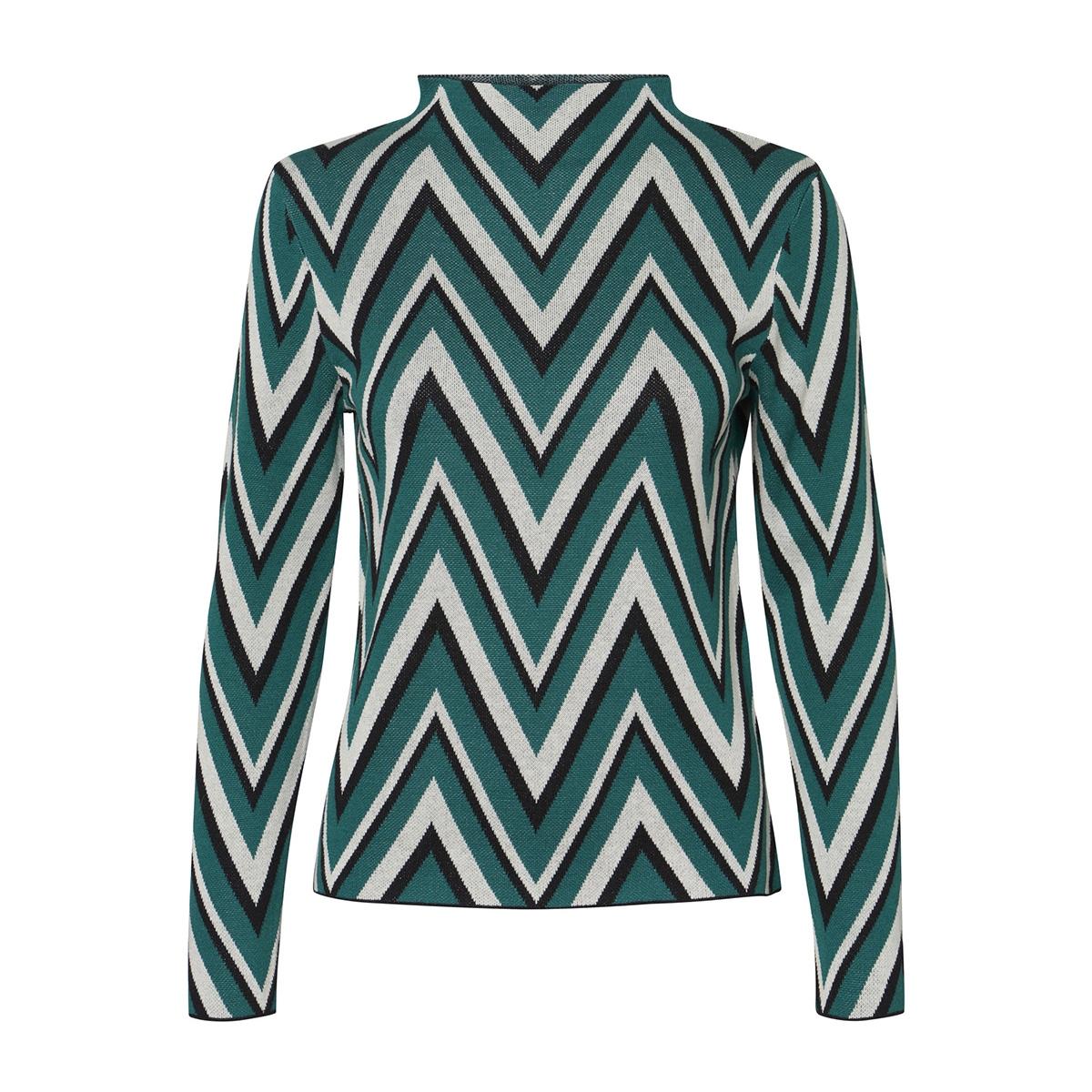 vmkirsten ls highneck blouse 10207608 vero moda trui alpine green/ as sample