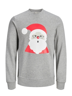 Jack & Jones sweater JORKRITTERXMAS SWEAT CREW NECK 12143339 Light Grey Melange/SLIM
