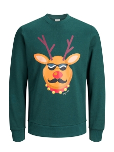 Jack & Jones sweater JORKRITTERXMAS SWEAT CREW NECK 12143339 Deep Teal/SLIM