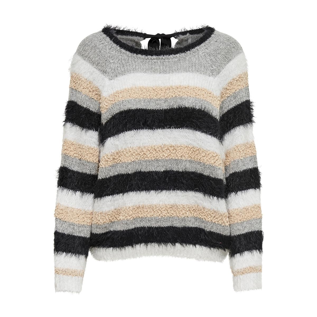 onlturin l/s pullover knt 15168854 only trui black/lgm/cloud dancer