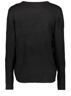 vmadiva ls o neck blouse d2 10207559 vero moda trui black/silver text