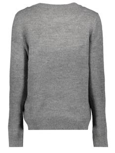 vmadiva ls o neck blouse d2 10207559 vero moda trui medium grey melange/text