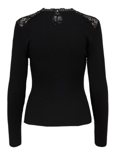 onlilaria l/s pullover knt 15165532 only trui black/dtm lac