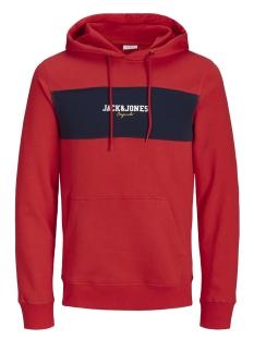 Jack & Jones Sweater JORJOSH SWEAT HOOD 12143002 Fiery Red/SLIM