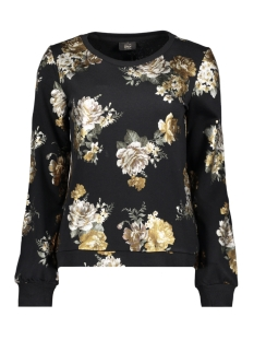 Only Sweater onl ISABELLA L/S O-NECK FOIL SWT 15175846 Black