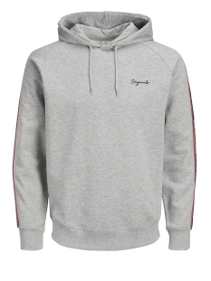 Jack & Jones sweater JORTAPE SWEAT HOOD 12142948 Light Grey Melange/SLIM