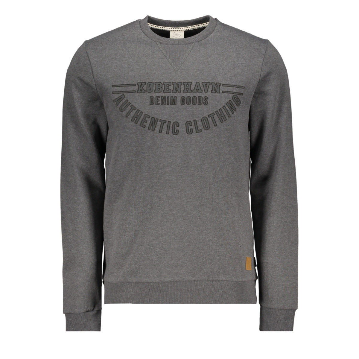 jordenver sweat crew neck 12145917 jack & jones sweater dark grey melange