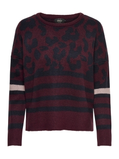 Only Trui onlNEW ODINE L/S PULLOVER KNT 15165578 Chocolate Truff/W. NIGHT S