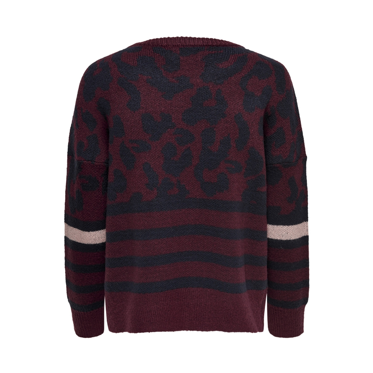 onlnew odine l/s pullover knt 15165578 only trui chocolate truff/w. night s