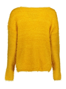 onlgaia l/s plain pullover knt 15164432 only trui golden yellow