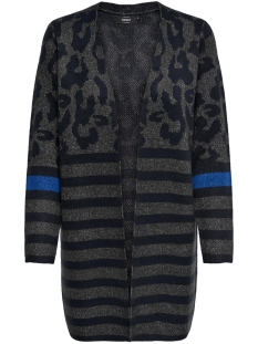 Only Vest onlNEW ODINE L/S OPEN CARDIGAN KNT 15165584 Dark Grey Melan/W. NIGHT S