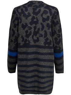 onlnew odine l/s open cardigan knt 15165584 only vest dark grey melan/w. night s