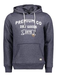jprfrank blu. melange sweat hood 12144941 jack & jones sweater navy blazer/slim fit