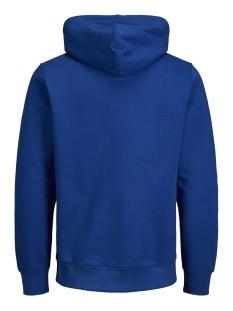 jcologan sweat hood 12143100 jack & jones sweater classic blue/jj artwork