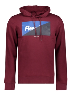Jack & Jones Sweater JCOLOGAN SWEAT HOOD 12143100 Zinfandel/SCAN ARTWORK