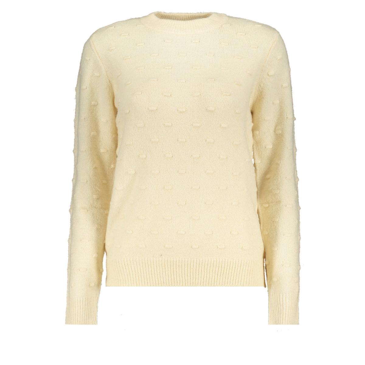 jdydotta l/s pullover knt 15163599 jacqueline de yong trui eggnog/melange