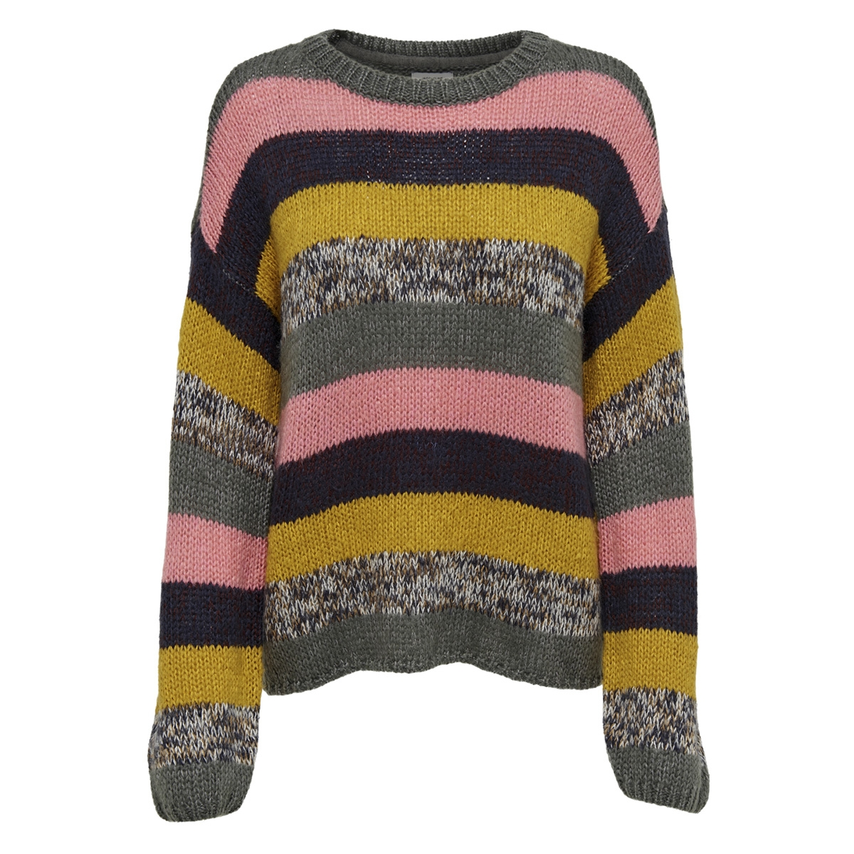 jdyiris l/s stripe pullover knt 15163049 jacqueline de yong trui chai tea/multi stri