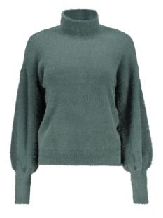 nmsophie l/s high neck knit 7 27004446 noisy may trui mallard green