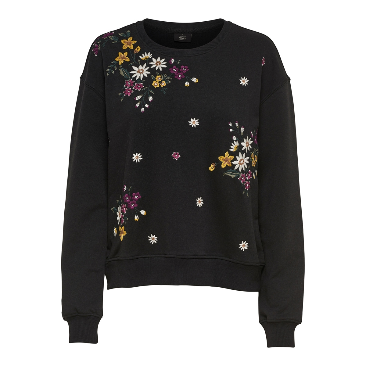 onlwhitney emb l/s o-neck swt 15166979 only sweater black