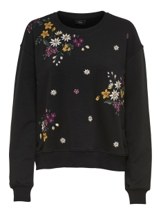 Only Sweater onlWHITNEY EMB L/S O-NECK SWT 15166979 Black
