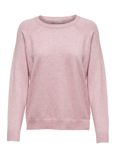 Only Trui onlLESLY KINGS L/S PULLOVER KNT NOO 15170427 Light Pink/W. MELANGE