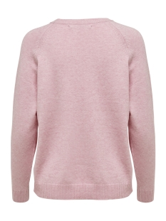 onllesly kings l/s pullover knt noo 15170427 only trui light pink/w. melange