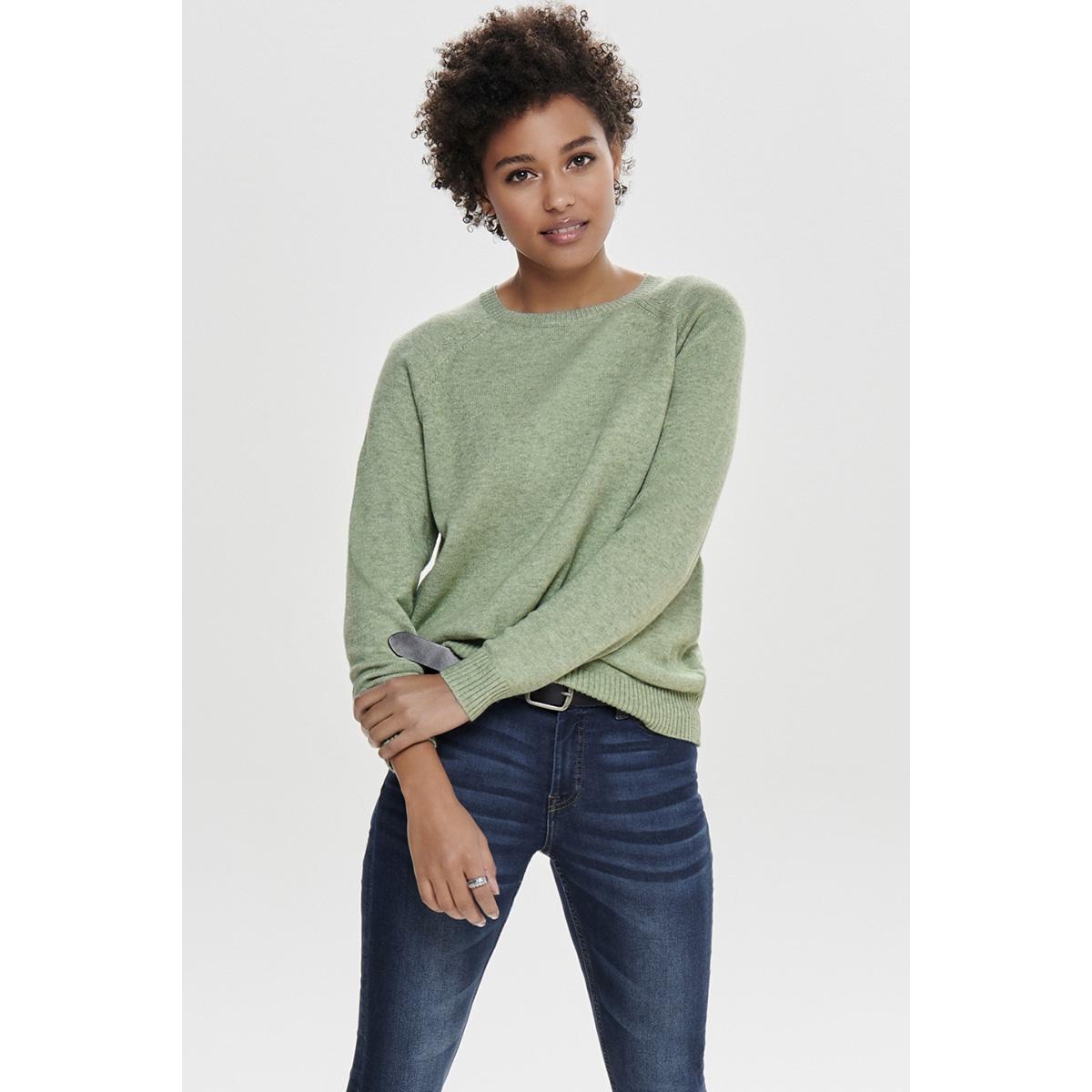 onllesly kings l/s pullover knt noo 15170427 only trui basil/w. melange