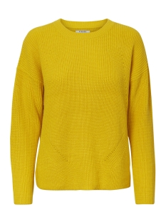 pcmarie ls o-neck knit noos 17093438 pieces trui lemon chrome