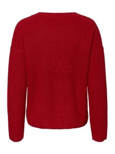 pcmarie ls o-neck knit noos 17093438 pieces trui aura orange