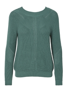Noisy may Trui NMMAJKEN L/S V-BACK KNIT 7 27004174 Mallard Green