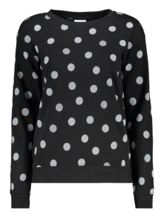 Vero Moda sweater VMAIDA L/S ORIGINAL DOT SWEAT GA 10209922 Black/DEMI WHITE