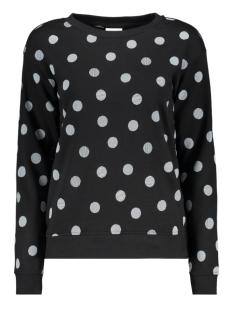 vmaida l/s original dot sweat ga 10209922 vero moda sweater black/demi white