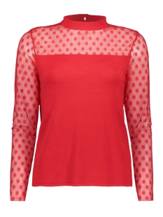 Only T-shirt onlISOLA L/S PULLOVER KNT 15168913 Goji Berry/DTM LACE