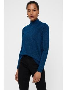 vmkaris lurex ls highneck blouse 10205096 vero moda trui gibraltar/w. dtm lurex