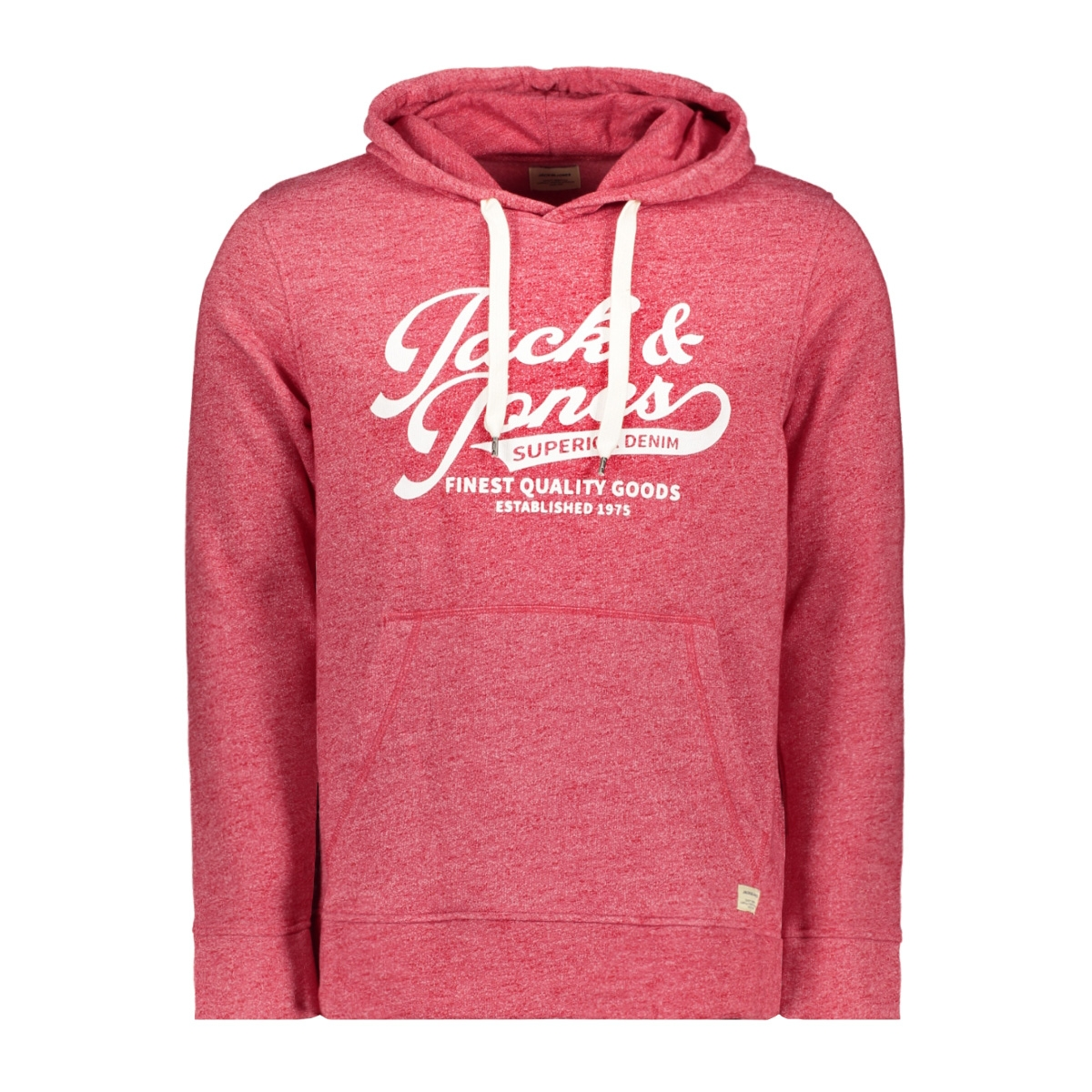 jjepanther sweat hood noos 12141011 jack & jones sweater tango red/reg fit