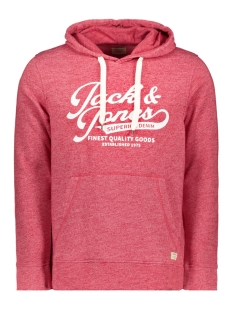 Jack & Jones sweater JJEPANTHER SWEAT HOOD NOOS 12141011 Tango Red/REG FIT
