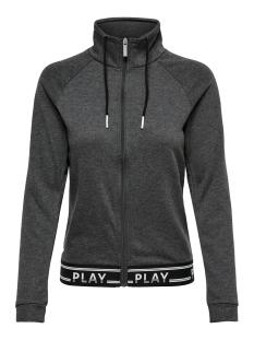 onpluna high neck zip sweat prs 15160053 only play sport vest dark grey melange