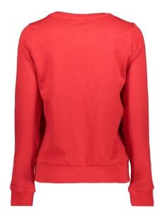 onlelse print l/s o-neck ub cc swt 15173113 only sweater goji berry/fleur