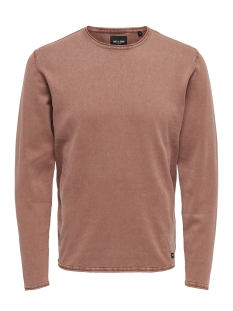 Only & Sons Trui onsGARSON 12  WASH CREW NECK KNIT NOOS 22006806 Rose Taupe