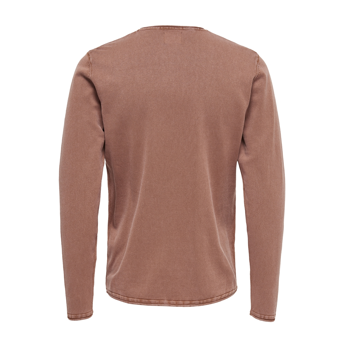 onsgarson 12  wash crew neck knit noos 22006806 only & sons trui rose taupe
