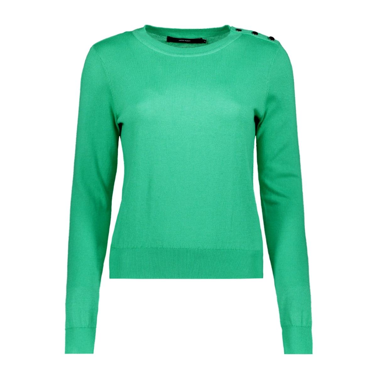 vmmilda ls o-neck button blouse boo 10206754 vero moda trui holly green