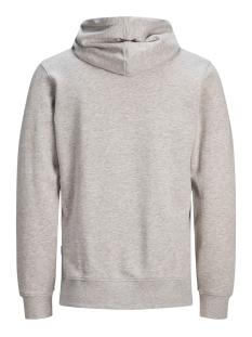 jcojonah sweat hood ls noos 12146143 jack & jones sweater light grey melange/scan print